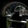 砲台跡地にまたがるトンネル