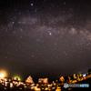 和歌山県 深夜の橋杭岩