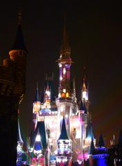 光り輝くシンデレラ城