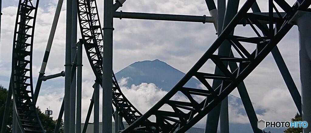 富士急ハイランドからの富士山