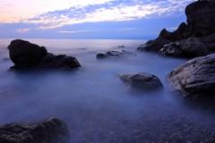 大山岬に日が暮れて