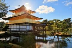 どこから見ても金閣寺。