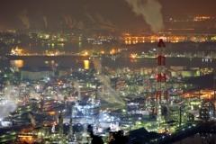水島コンビナートⅠ ~鷲羽山スカイラインより~