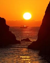 五色の浜の朝