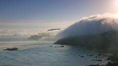 流れ込む雲海