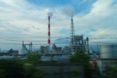 富士山&工場のコラボ!!