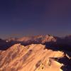 燕岳から眺める厳冬期の槍ヶ岳