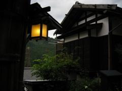 妻籠宿の街灯り