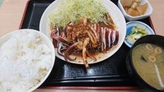 イカのスタミナ焼き定食