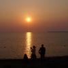 サロマ湖 夕陽