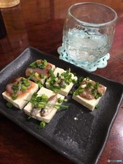 泡盛と島豆腐