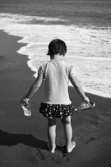 秋の浜辺(2)