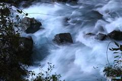 神崎川の急峻