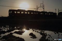 切り絵列車