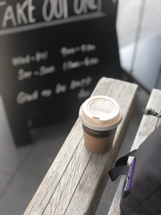 a traveling cup