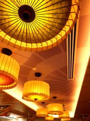 観光地の天井