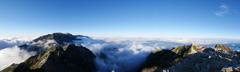 唐松岳よりの眺望 パノラマ