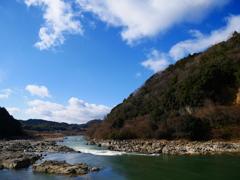 新年の瀬田川景
