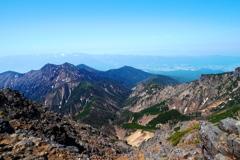 赤岳よりの眺望