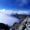 山のてっぺん空の真ん中