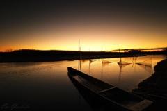 夜明けの渡瀬遊水地