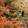 秋深まる只見線