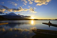 朝の田貫湖②