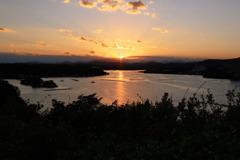 日没間近の里海
