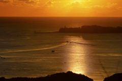 ゴージャスな朝の陽