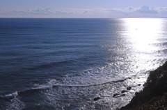 大海原に向かって