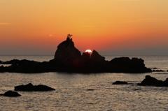 軍艦岩からの日の出