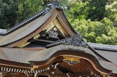 大神神社拝殿にて