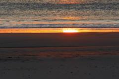 渚に出た朝日