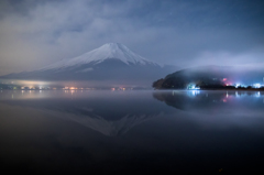 夜霧の山中湖