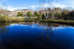 木戸池の映り込み