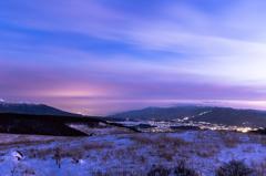 氷点下の夕景・2