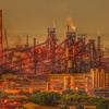 JFEスチール福山工場の朝景