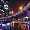 bridge and illumination oosaka