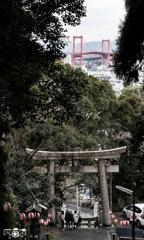 白山神社から。