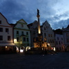 チェコ チェスキー・クルムロフの夜景