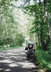 1996年8月 R102号 十和田湖にて