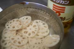 酢蓮根…作りかけ…