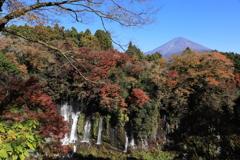 白糸の滝と富士