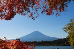 富士と紅葉・2