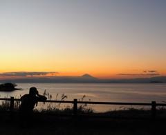 カメラ男子と富士山