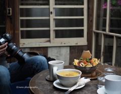 Kussuさんとカフェ。