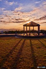 或る公園の夕景