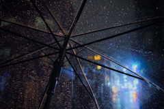 雨降る夜の街1