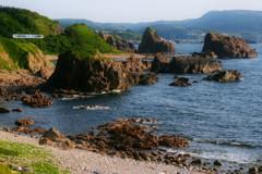初夏の海岸−行合崎−