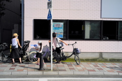 長そうなので自転車を降りて